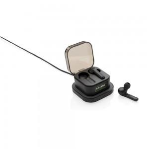 Bezprzewodowe słuchawki douszne TWS, ładowarka bezprzewodowa 5W
