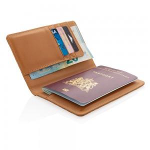 Korkowe etui na karty kredytowe i paszport RFID