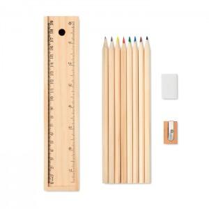 Drewniany zestaw szkolny