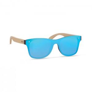 Okulary przeciwsłoneczne z bambusowymi zausznikami
