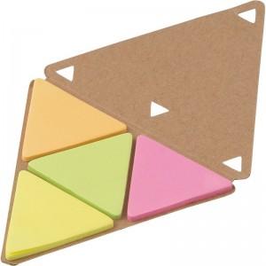 """Zestaw do notatek """"trójkąt"""", karteczki samoprzylepne"""
