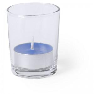 Szklany świecznik, świeczka zapachowa