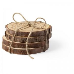 Zestaw 4 drewnianych podkładek