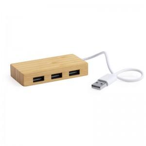 Bambusowy hub USB 2.0
