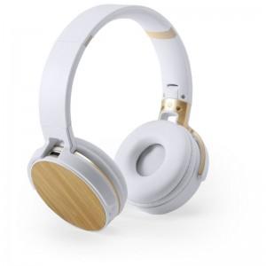 Bambusowe bezprzewodowe słuchawki nauszne