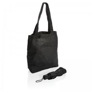 """Parasol manualny 21"""", składany, torba na zakupy"""