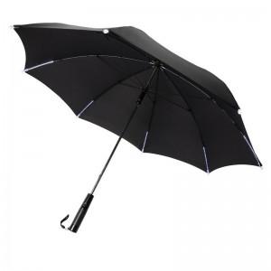 """Manualny parasol sztormowy 23"""", światło LED"""