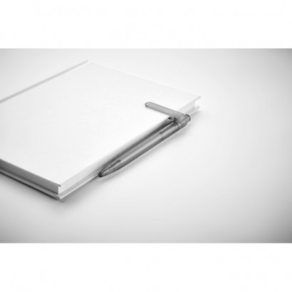 Przyciskany długopis z RPET z funkcją obracanego klipsa o 360 stopni