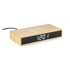 Zegar na biurko z ładowarką indukcyjną