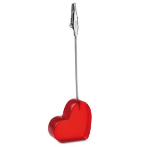 Klips do notatek w kształcie serca