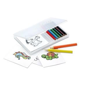 Zestaw do kolorowania w przezroczystym pudełku