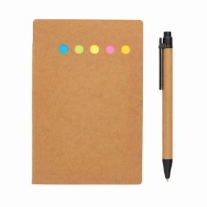 Zestaw do notatek A6, karteczki samoprzylepne, długopis