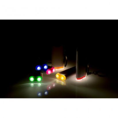 Brelok do kluczy z lampką 2 LED i żetonem do wózka
