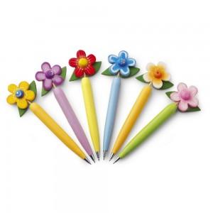 """Długopis """"kwiatek"""", mix 6 wzorów Giner"""
