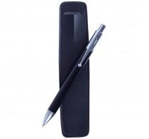 Długopis z błyszczącymi srebrnymi elementami