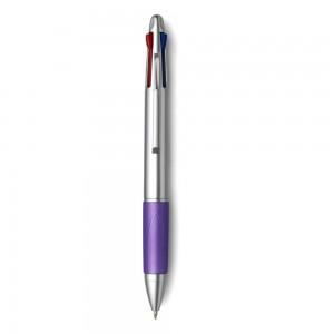 Długopis z gumowym uchwytem, 4 kolory