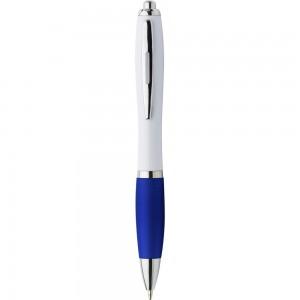 Długopis z kolorowym gumowym uchwytem