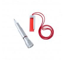 Długopis z latarką 2 LED, na sznurku