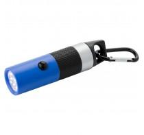 Latarka 9 LED z gumowym uchwytem i karabińczykiem