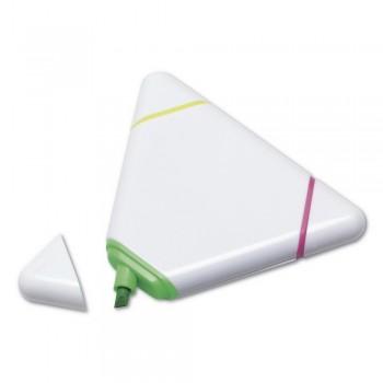 Plastikowy zakreślacz, 3 kolory: żółty, różowy, zi