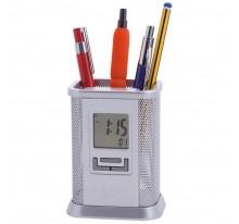 Pojemnik na długopisy z zegarem