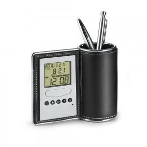 Pojemnik na długopisy z zegarem wielofunkcyjnym