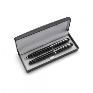Zestaw piśmienny w pudełku, długopis i pióro kulko