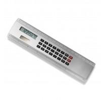 Linijka 20 cm z kalkulatorem na baterię słoneczną