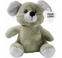Mysz pluszowa, 20 cm, zawieszka pod nadruk, do kom