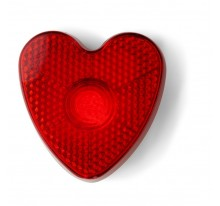 """Odblask z klipem """"serce"""" i migające światełko"""