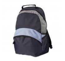 Plecak z dodatkową przednią kieszenią na zamek ora