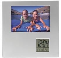 Ramka do zdjęć (9 x 13 cm) z zegarem, kalendarzem