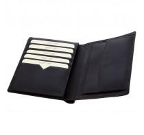 Skórzany portfel Mauro Conti, 10 miejsc na karty