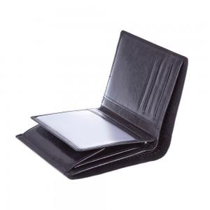 Skórzany portfel Mauro Conti wykonany ze skóry wys