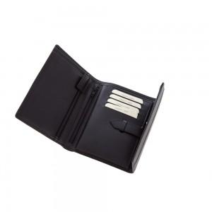 Skórzany portfel Mauro Conti, zapinany na zatrzask