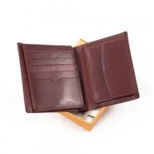 Skórzany portfel Mauro Conti ze skóry wysokiej jak