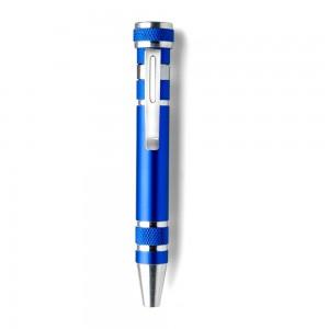 Śrubokręt w kształcie długopisu z 4 płaskimi i 4 k