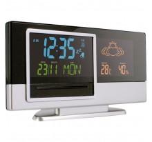 Stacja pogodowa, zegar, alarm, kalendarz, wskazuje