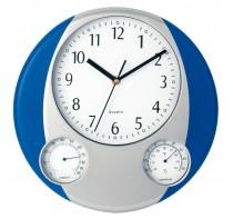 Zegar na ścianę, stacja pogodowa z termometrem i w