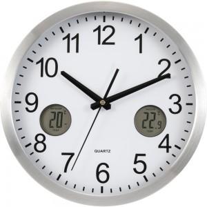 Zegar na ścianę z termometrem i wskaźnikiem wilgot