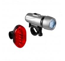 Zestaw 2 lampek rowerowych, przednia lampka 5 LED