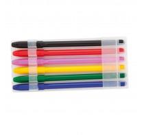 Zestaw długopisów, 6 szt., wkłady w kolorach korpu