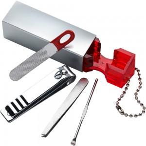 Zestaw do manicure, 4 el., brelok i magnes