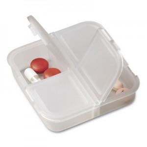 Pojemnik na tabletki z 4 przegrodami