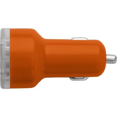 Ładowarka samochodowa z 2 wejściami USB, adapter d