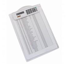 Kalkulator z podkładką do pisania