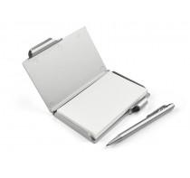 Notes z długopisem srebrny, 80 kartek