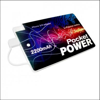 Powerbank Karta Tin ze świątecznym nadrukiem