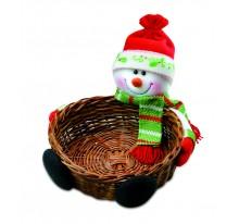 Koszyczek na prezenty z bałwankiem