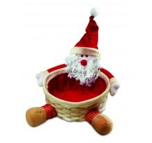 Koszyczek na prezenty z Mikołajem